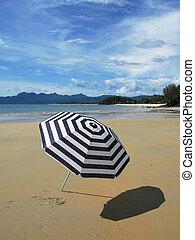 langkawi, 傘, 島, マレーシア, しまのある, 浜