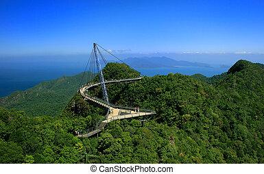 langkawi, himmelsgewölbe, brücke, langkawi, insel, malaysien