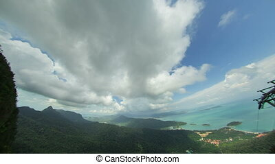 langkawi island timelapse with wide lens