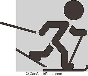 langlaufrennen, ikone