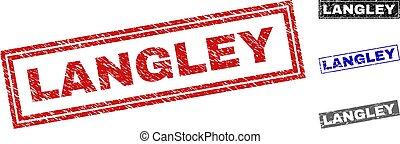 langley, wasserzeichen, grunge, rechteck, textured