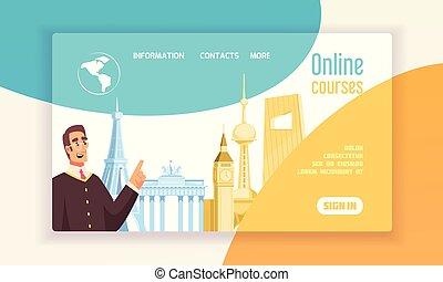 Language Center Concept Banner - Language center online...