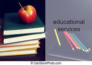 language classes apple book stack