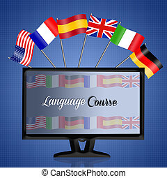Language corse - illustration of language corse