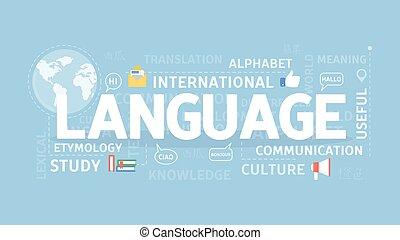 Language illustration concept.