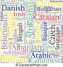 World map in typography word cloud concept names of vector language in the world related word cloud background gumiabroncs Gallery