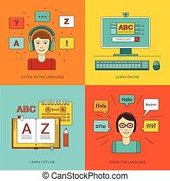 Foreign language education online.