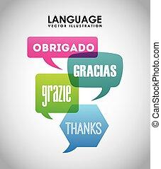 language poster design,vector illustration eps10 graphic