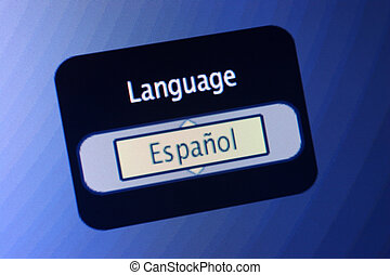 Language Sign-Spanish - LCD display with the world Language...