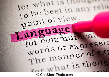 Language - Fake Dictionary, definition of the word Language.