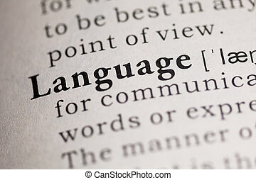 Language - Fake Dictionary, Dictionary definition of the...