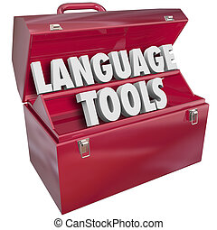 Language Tools Toolbox Words Foreign Dialect Learning School...