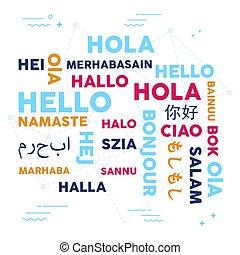 Language translation concept background