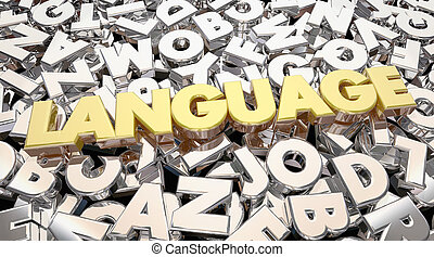 Language Word Letters Communication Share Ideas 3d Animation