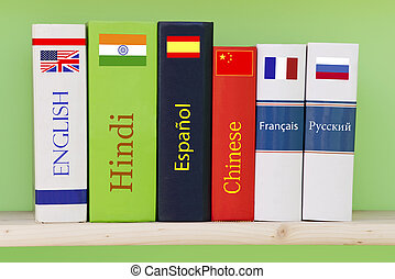 Books/dictionaries of different languages