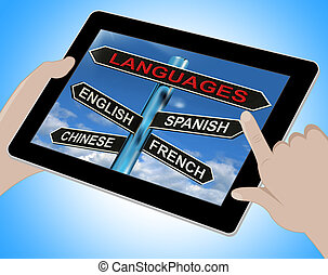 Languages Tablet Means English Chinese Spanish And French -...