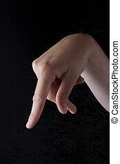 langue, photo, signe, p, américain, lettre, stockage
