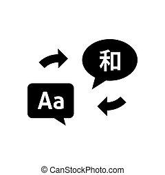 langues, bulles, parole, icône