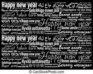 Diff rent langues 2018 ann e nouveau heureux clip art - Bonne annee dans toutes les langues ...