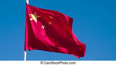 langzaam, vlag, vliegen, china