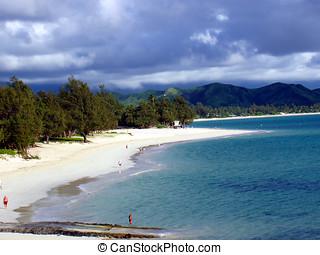lanikai, spiaggia., oahu, hawai