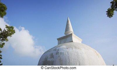 lanka, masywny, vehera, polonnaruwa, stupa, kiri, sri