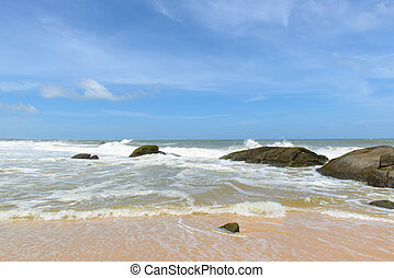 lanka., vest, sri, beaches., coastline, coast.