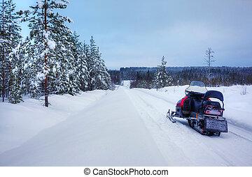 lanscape, フィンランド, 雪が多い