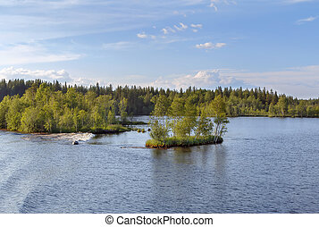 Shawan lake in Karelia, Russia