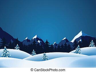 lanscape, vinter