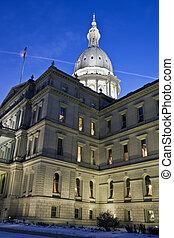 lansing, michigan, -, capitolio de estado federal