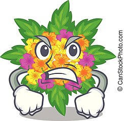 lantana , θυμωμένος , λουλούδια , σχήμα , γελοιογραφία