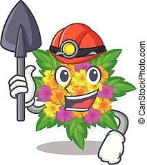 lantana , σχήμα , λουλούδια , ανθρακωρύχος , γελοιογραφία
