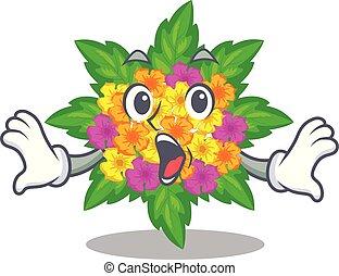 lantana , σχήμα , λουλούδια , γελοιογραφία , έκπληκτος