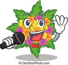 lantana , σχήμα , λουλούδια , τραγούδι , γελοιογραφία