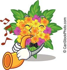 lantana , σχήμα , λουλούδια , τρομπέτα , γελοιογραφία
