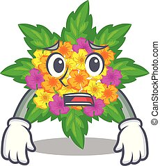 lantana , σχήμα , φοβισμένος , λουλούδια , γελοιογραφία
