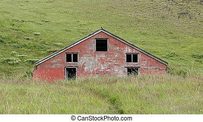 lantbrukarhem, gammal, övergiven