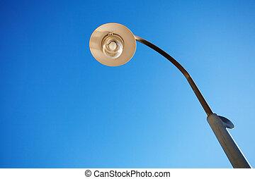 lantern against the blue sky