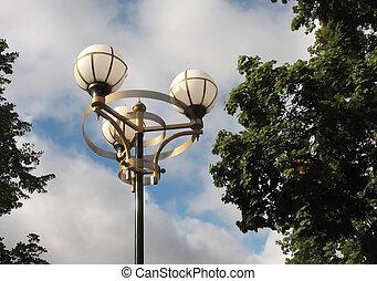 lantern against the sky