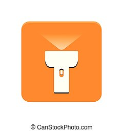 Lantern app button on a white background, Vector illustration