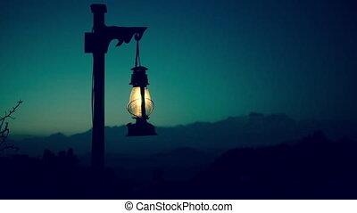 Lantern cinemagraph seamless loop.
