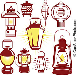 Lantern Collection - Clip art collection of lantern icons ...