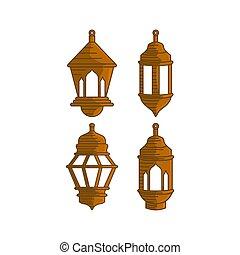 Lantern Design Graphic Template Vector