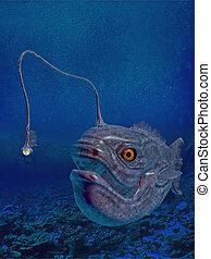 lantern fish - 3d render