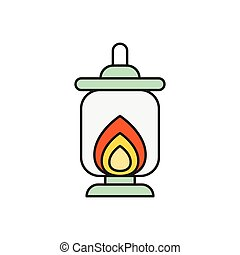 lantern  flat color icon