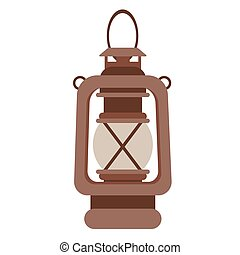 lantern flat illustration on white