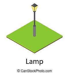 Lantern icon, isometric style