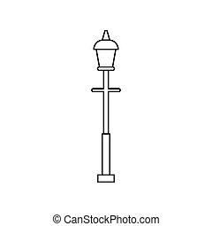 Lantern icon, outline style