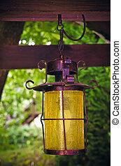 lantern in a garden